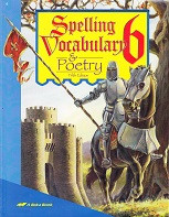 Spelling Vocabulary & Poetry 6, 5th ed., workbook & Tests