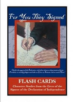 For You They Signed, Character Studies Flash Cards