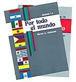 Spanish 1A & B: Por todo el mundo 2 worktexts set