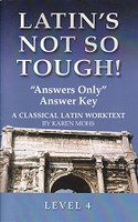 "Latin's Not So Tough! Answers Only"" Answer Key, Level 4"