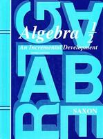 Saxon Algebra 1/2, 3d ed., text