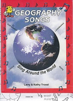 Geography Songs, Sing Around the World Book & Map Set