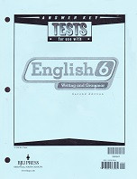 English 6 Writing and Grammar, 2d ed., Test Key