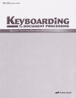 Keyboarding and Document Processing 10-12, Quizzes-Tests