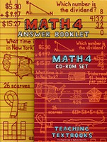 Teaching Textbooks Math 4 CD-Roms & Answer Booklet Set