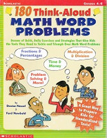 180 Think-Aloud Math Word Problems, Grades 4-6