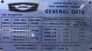 General Data Plate