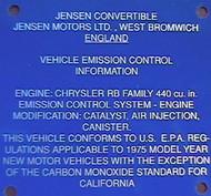 Blue Plate Interceptor III 1975