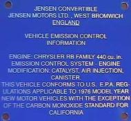 Blue Plate Interceptor III 1976