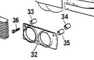 75698 Spacer Long-Inner, headlight screw