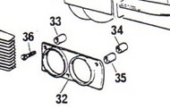 75700 Spacer Short-Outer, headlight screw
