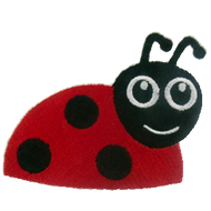 Lady Bug On The Edge Embroidered Download