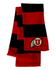 Utah Utes Red/Black Sportsman Knit Scarf