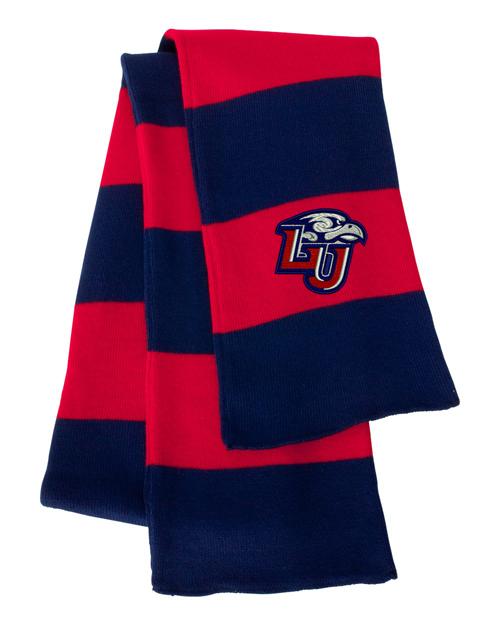 Liberty University Red/Navy Blue Sportsman Knit Scarf