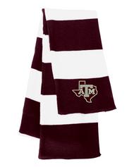 Texas A&M University Maroon/White Sportsman Knit Scarf