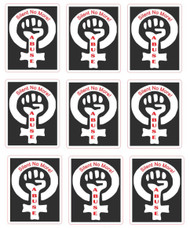 Domestic Abuse - Silent No More! Sticker Sheet 11 Stickers