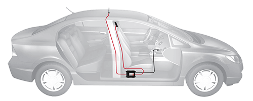 vehicle signal booster installation
