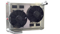 1966-76 Jensen Interceptor Aluminum Radiator with Fans & Shroud