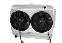 "1966-1969  26"" (B/B) Mopar Applications Aluminum Radiator Brushless Fans"