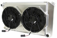 "1970-1981 Chevrolet Camaro/ Z28/ Firebird Aluminum Radiator (26.25"" Core)w/ BRUSHLESS FAN PACKAGE"