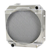 1963-66 Ford/Mercury Mustang/Falcon/Comet Aluminum Radiator (Ww/ SHROUD for Mechanical Fan