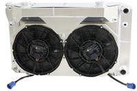 "26.25"" Various GM Applications, LSA Swap,  w/ BRUSHLESS FANS, Intercooler, Condenser, Overflow, Intercooler, Super Charger Reservoir (SUPERCHARGED APPLICATIONS ONLY)"