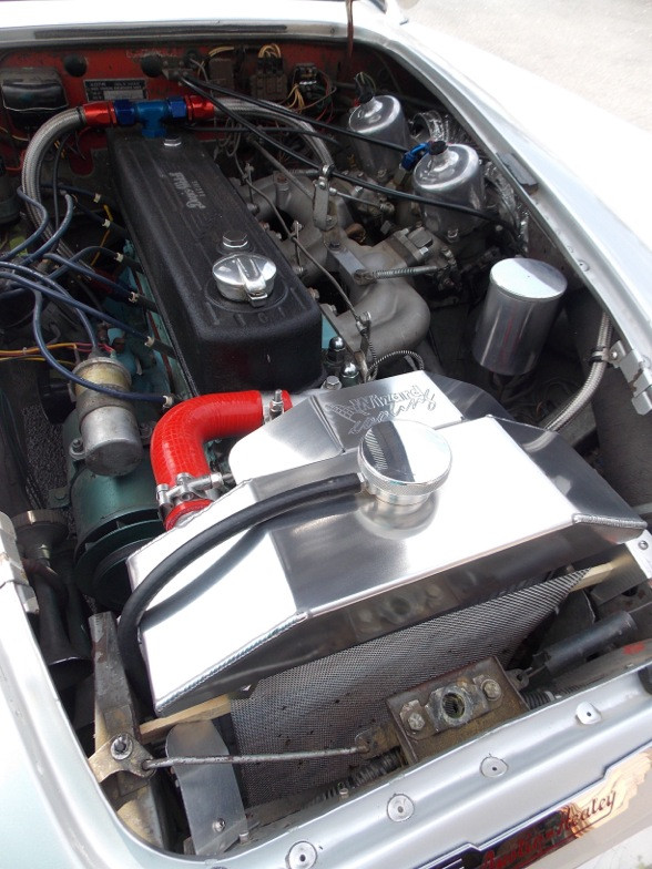 Austin Healey 3000 Aluminum Radiator installed