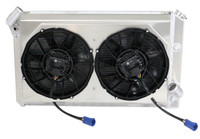 1973-1976 Chevrolet Corvette Aluminum Radiator w/ BRUSHLESS FAN PACKAGE