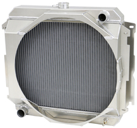 "1970-1973 22"" Mopar Applications (Passenger Side Inlet) Aluminum Radiator (W/ Mechanical Fan Shroud)"