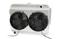 "1966-1969  26"" (B/B) Mopar Applications Aluminum Radiator (W/ Shroud & PD Fans)"