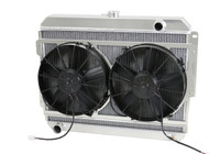"1966-1969  26"" (B/B) Mopar Applications Aluminum Radiator (W/ BRACKET MOUNTED PADDLE BLADE  Fans)"
