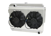 "1966-1969  26"" (S/B) Mopar Applications Aluminum Radiator (W/ Shroud & LOW Profile Fans)"