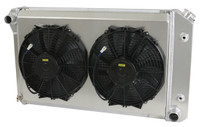 "28.25"" Core  Various GM Applications, Aluminum Radiator w/ Dual Low Profile Fan Shroud"
