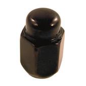 Lug Nut, Acorn Flat Black Metric 12x1.25