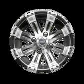 """12""""x7"""""""" RHOX Vegas Machined Golf Cart Wheel TIR-RX180"""