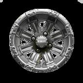 """12"""" RHOX Vegas Matte Black Golf Cart Wheel TIR-RX184"""