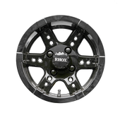 "12"" RHOX RX252 Black Golf Cart Wheel"