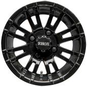 "12""x7"" RHOX RX271 Black Golf Cart Wheel"