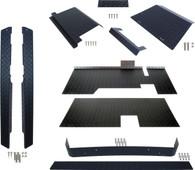 EZGO TXT (Black) Diamond Plate Accessorry Kit With Floor 1995-2014