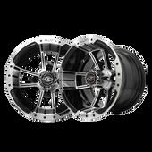 """10""""x7"""" Madjax Apex Machined/Black Golf Cart Wheel"""