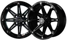"""14""""x7"""" Madjax Element Black Golf Cart Wheel"""