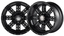 "12""x7"" Madjax Transformer Matte Black Golf Cart Wheel"