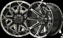 Madjax VORTEX 12x7 Machined/Black Wheel