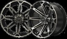 "14""x7"" Madjax VORTEX Machined/Black Golf Cart Wheel"