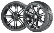 """Madjax 14"""" Illusion Wheels with Street Low Profile Tire Options Combo"""