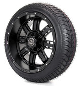 "Madjax 14"" Transformer Matte Black with Street Low Profile Tire Options Combo"