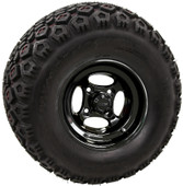 """RHOX 10"""" Indy Black Wheels with Lifted Tire Options Combo"""