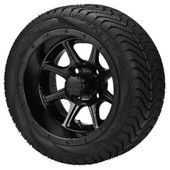 "12"" - ""Tremor"" Matte Black Low Profile Tire and Wheel Combo"