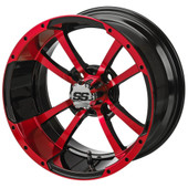 """14"""" - """"Storm Trooper"""" Black/Red Low Profile Tire and Wheel Combo"""