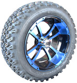 """""""Storm Trooper"""" - 14"""" Black/Blue Lifted Tire and Wheel Combo"""